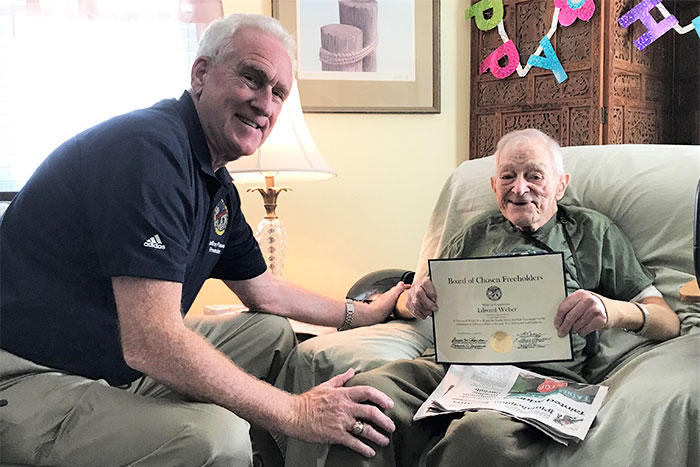 Angelic Hospice Care Blog - 100-year-old WWII Vet Takes Life in Stride